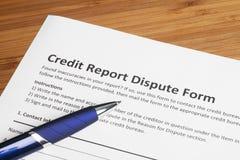 Contagem da disputa do relatório de crédito fotografia de stock