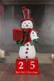 contagem de +EPS os dias 'até o quadro-negro do Natal Foto de Stock Royalty Free