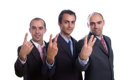 Contagem de três homens de negócio Foto de Stock