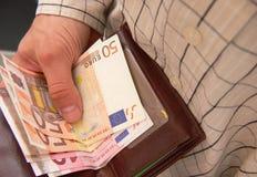 Contagem do dinheiro Foto de Stock Royalty Free