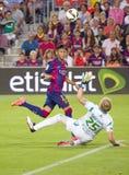 Contagem do objetivo de Neymar Fotografia de Stock Royalty Free