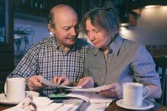 Contagem do orçamento de família Imagem de Stock Royalty Free