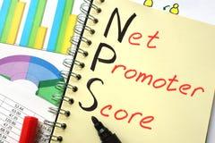 Contagem do promotor da rede de NPS fotografia de stock royalty free