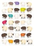 Contagem dos carneiros ilustração stock