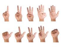 Contagem dos dedos Imagens de Stock