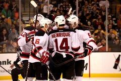 Contagem dos New Jersey Devils! Fotografia de Stock Royalty Free