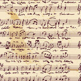 Contagem musical (sem emenda, vetor) Fotografia de Stock