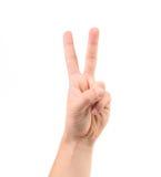 Contagem no dedo. Fotos de Stock Royalty Free