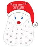 Contagem para baixo ao calendário do Natal ilustração royalty free