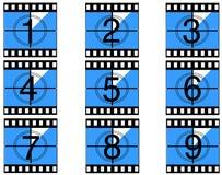 Contagem regressiva 05 da película Imagem de Stock Royalty Free