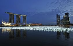 Contagem regressiva 2010/2011 de Singapore Foto de Stock