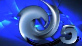 Contagem regressiva azul video estoque