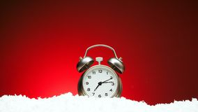 Contagem regressiva de doze a doze Contagem regressiva video à metragem da meia-noite do cumprimento do ano novo do xmas do Natal ilustração do vetor