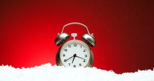 Contagem regressiva de doze a doze Contagem regressiva video à metragem da meia-noite do cumprimento do ano novo do xmas do Natal ilustração royalty free