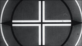 Contagem regressiva de Picture Start End 8mm 16mm do líder do filme preto e branco ilustração stock