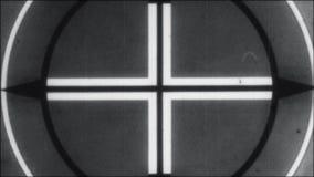 Contagem regressiva de Picture Start End 8mm 16mm do líder do filme preto e branco ilustração do vetor
