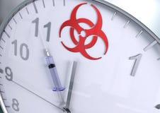 Contagem regressiva do Biohazard ilustração stock