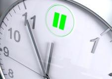 Contagem regressiva do botão de pausa ilustração stock