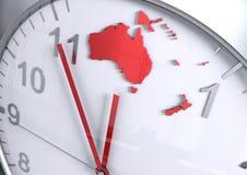 Contagem regressiva do continente de Austrália Oceania ilustração do vetor