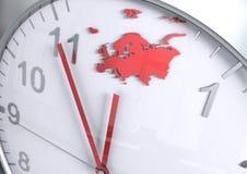 Contagem regressiva do continente de Europa Imagens de Stock