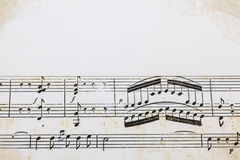 Contagem velha da partitura Fotografia de Stock