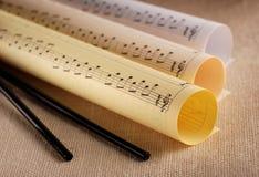 Contagens da música Imagem de Stock
