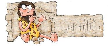 Contagens do homem das cavernas ilustração royalty free