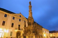 Contagi la colonna (colonna di Mary Immaculate vergine) in Kutna Hora, repubblica Ceca Immagini Stock