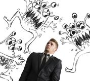 Contagion of virus Stock Photos