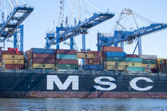 Container ships Stock Images