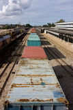 Container. For transport by train Stock Image