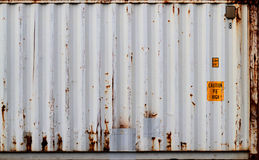 Container. Grey container with lots of rust royalty free stock photography