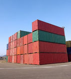 Container. In the busy container terminal Royalty Free Stock Images