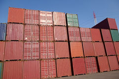 Container. In the busy container terminal Stock Photos
