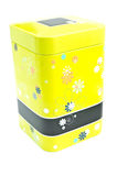 Container. Colored metal container with designs for spices royalty free illustration