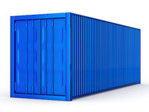 Container. Blue container on white background Stock Images