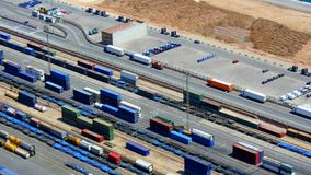 Container aerial view looks like construction kit Royalty Free Stock Photos