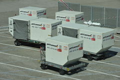 Container at the Airport Duesseldorf, Germany Royalty Free Stock Photos