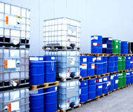 Container And Oil Drums Royalty Free Stock Image
