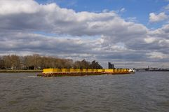 Container Barge on the Thames Royalty Free Stock Image