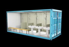 Container of Bathroom. Concept of Reuse Container, 3d Illustration. Stock Photography