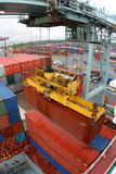 Container being loaded Stock Photography