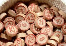 Container of bingo numbers Stock Photos