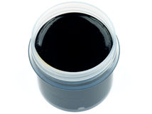 Black Gouache Stock Photo