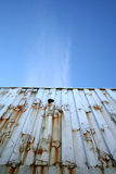 Container and blue sky Royalty Free Stock Photography