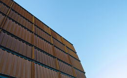 Container. In the blue sky Royalty Free Stock Photography