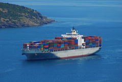 Container boat Stock Photo