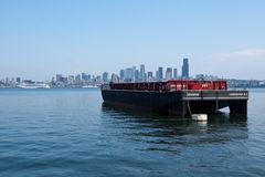 Container Boat in Seattle Royalty Free Stock Photography
