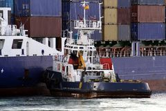 Container boat Royalty Free Stock Photography