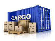 Container and box Stock Image